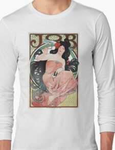 Alphonse Mucha - JOB rolling papers advertisement Long Sleeve T-Shirt