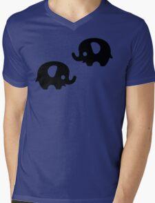 Baby Elephant - yellow Mens V-Neck T-Shirt