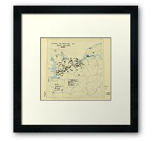 World War II Twelfth Army Group Situation Map July 30 1944 Framed Print