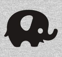 Baby Elephant - black One Piece - Short Sleeve