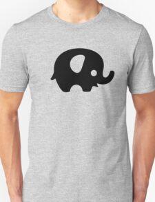 Baby Elephant - black Unisex T-Shirt