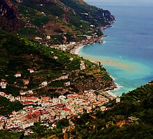 Amalfi Coast, from Ravello, Campania, Italy by Deb Gibbons