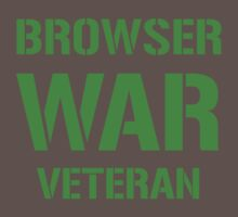 BROWSER WAR VETERAN - Green on Army Design for Web Developers One Piece - Short Sleeve