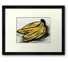 A bunch of Bananas, watercolor Framed Print