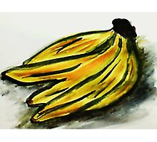 A bunch of Bananas, watercolor Photographic Print