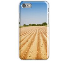 Ploughed agriculture field empty iPhone Case/Skin