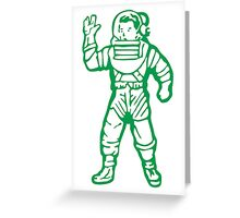bbc green Greeting Card