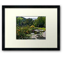 Garden, French Farm, Banks Peninsula, New Zealand. Framed Print