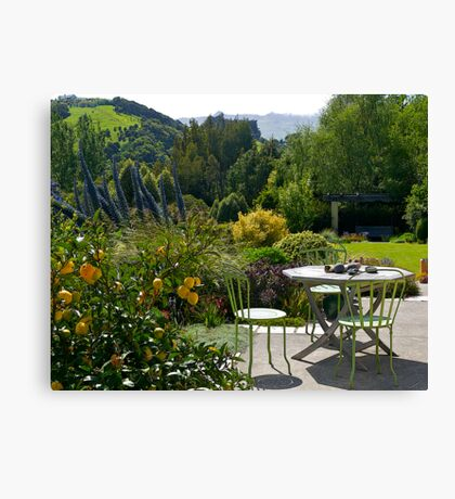 Garden, French Farm, Banks Peninsula, New Zealand. Canvas Print