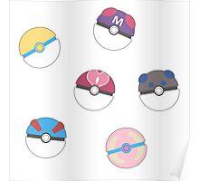 Cute Poke Balls Poster