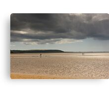 The dichotomy of Irish weather, Duncannon, County Wexford, Ireland Canvas Print