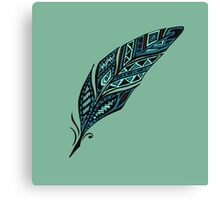 Arty feather Canvas Print