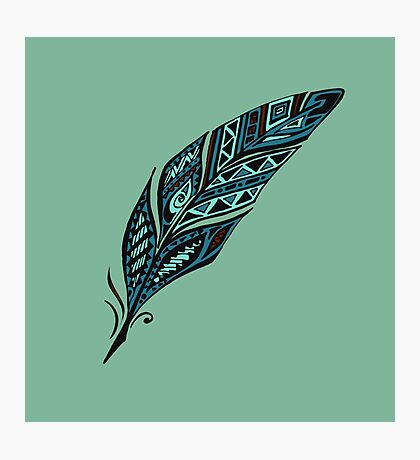 Arty feather Photographic Print