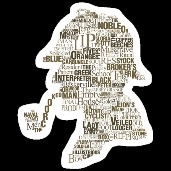 Sherlock Holmes The Canon sticker by renduh