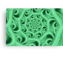 Fractal Web in Flourescent Green Canvas Print