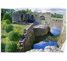 Leeds Castle - Fortified Mill Ruins Poster