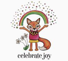 Celebrate Joy: Cute Fox Drawing Watercolor Illustration Baby Tee