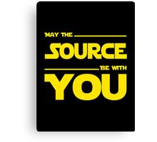 May The Source Be With You - Stars Wars Parody for Programmers Canvas Print