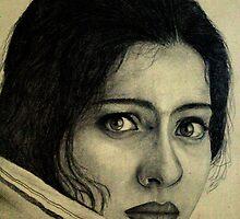 Kajol Anxious by Aditya Singh