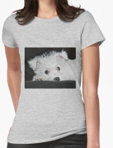 Resting Puppy Womens Fitted T-Shirt