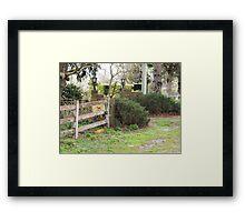 Farm Mail Framed Print