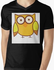 Cute Owl Orange Yellow T-Shirt