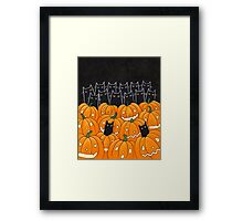 Black Cats & Jack-o-Lanterns Framed Print