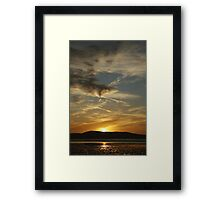 Dublin bay sunrise Framed Print