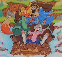 Disney Splash Mountain Bear Fox Rabbit Song of the South by notheothereye