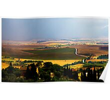 Rainy day in Tuscany Poster