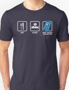 Eat, Sleep, Who Unisex T-Shirt