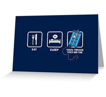 Eat, Sleep, Who Greeting Card