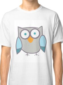 Cute Owl Blue Grey Classic T-Shirt