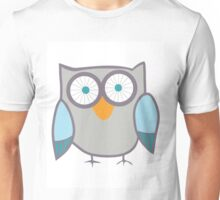 Cute Owl Blue Grey Unisex T-Shirt