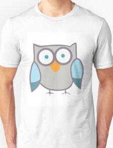 Cute Owl Blue Grey T-Shirt