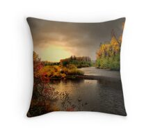 Glow On The Willamitte River Throw Pillow