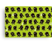 Black cute octopuses. Canvas Print