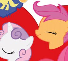 I have a crush on... the Cutie Mark Crusaders - with text Sticker