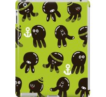 Black cute octopuses iPad Case/Skin