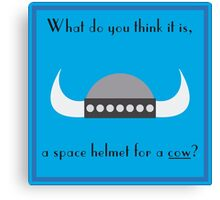 Space Helmet for Cows Canvas Print