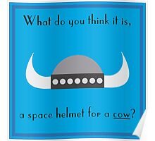 Space Helmet for Cows Poster