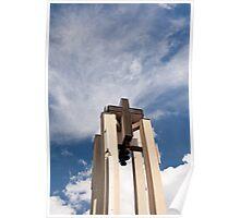 High church turret cross Poster