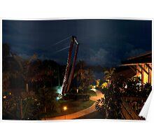 Palms Resort Suspension Bridge, Vanuatu Poster