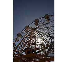 Ferris Wheel with Sun, Luna Park Photographic Print