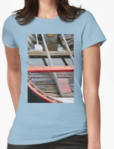 boat on lake Womens Fitted T-Shirt