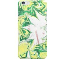 Hand drawn gouache marbling. iPhone Case/Skin