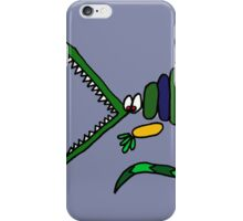 Funky Crocodile Art Abstract iPhone Case/Skin