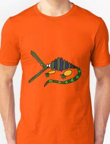 Funky Crocodile Art Abstract Unisex T-Shirt