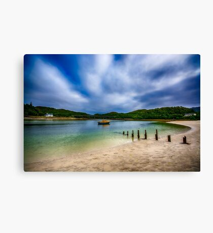 Low Tide at Morar Canvas Print