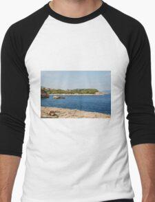 Patitiri coastline, Alonissos Men's Baseball ¾ T-Shirt